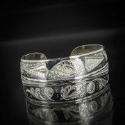 Серебряный кубачинский браслет с чернением арт.509