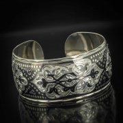 Серебряный кубачинский браслет с чернением арт.522