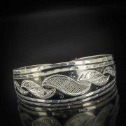 Серебряный кубачинский браслет с чернением арт.526