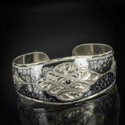 Серебряный кубачинский браслет с чернением арт.543