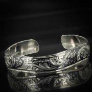 Серебряный кубачинский браслет с чернением арт.551
