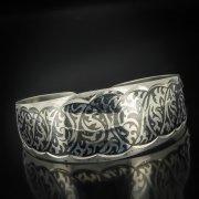 Серебряный кубачинский браслет с чернением арт.563
