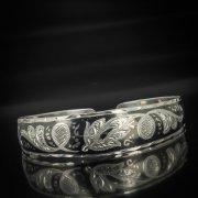 Серебряный кубачинский браслет с чернением арт.595