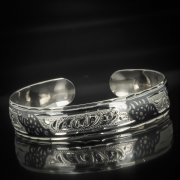 Серебряный кубачинский браслет с чернением арт.602