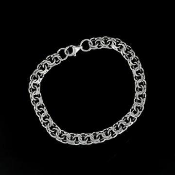 Серебряный браслет Бисмарк 18,5 см (ширина 0,7 см)