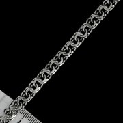 Серебряный браслет Бисмарк 19,5 см (ширина 0,65 см)