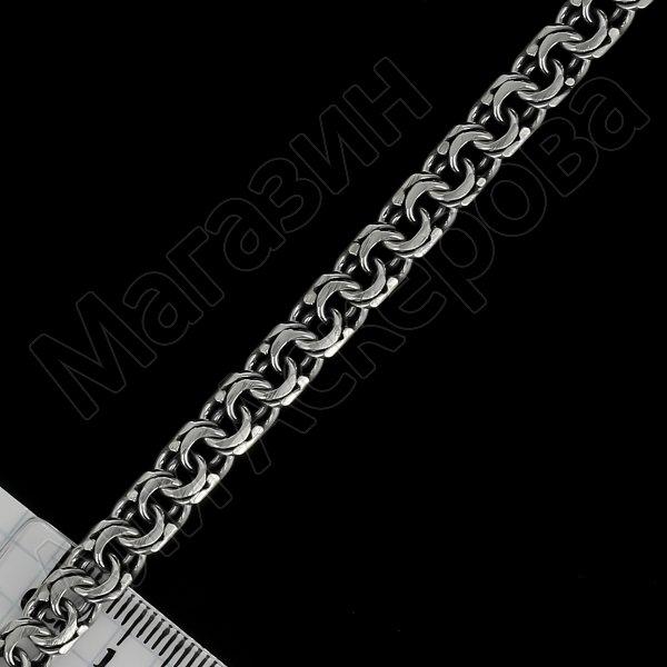 Серебряный браслет Бисмарк 19 см (ширина 0,65 см)