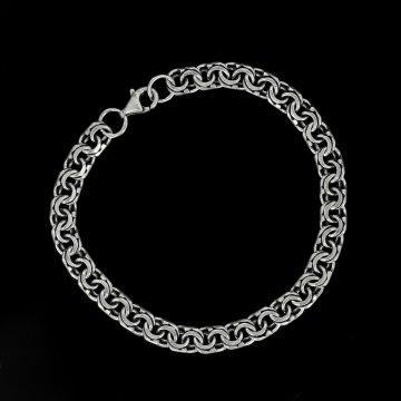 Серебряный браслет Бисмарк 21 см (ширина 0,5 см)