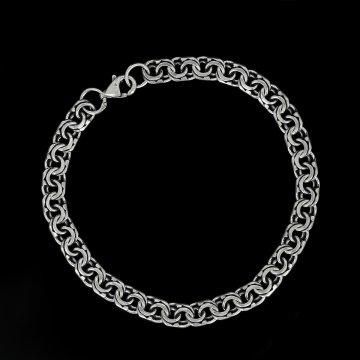 Серебряный браслет Бисмарк 22 см (ширина 0,5 см)
