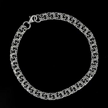 Серебряный браслет Бисмарк 24 см (ширина 0,5 см)