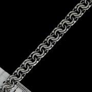 Серебряный браслет Бисмарк 19,5 см (ширина 0,5 см) арт.10776