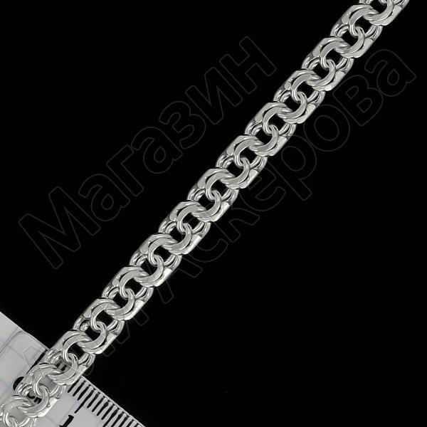 Серебряная цепь Бисмарк 55 см (ширина 0,7 см)