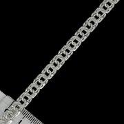 Серебряная цепь Бисмарк 65 см (ширина 0,65 см)