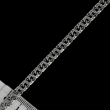 Серебряная цепь Бисмарк 55 см (ширина 0,5 см)