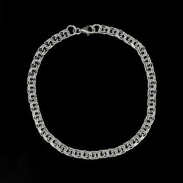 Серебряный браслет Бисмарк 22 см (ширина 0,4 см)