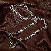 Серебряная цепь Бисмарк 50 см (ширина 0,55 см) арт.12147