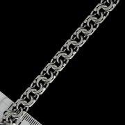 Серебряная цепь Бисмарк 65 см (ширина 0,8 см) арт.5908