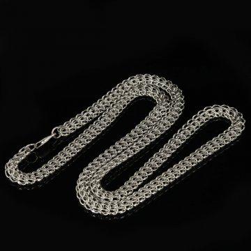 Серебряная цепь Кобра 60 см (ширина 0,7 см)
