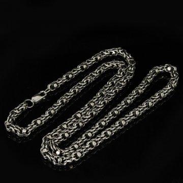 Серебряная цепь Гавайка 70 см (ширина 0,6 см)