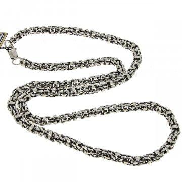 Серебряная цепь Гавайка 65 см (ширина 0,6 см)