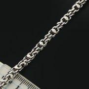 Серебряная цепь Гавайка 60 см (ширина 0,4 см)
