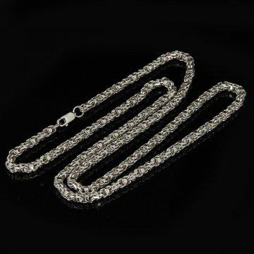 Серебряная цепь Гавайка 65 см (ширина 0,4 см)