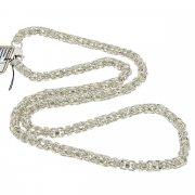 Серебряная цепь Гавайка 70 см (ширина 0,5 см)