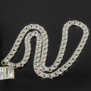 Серебряная цепь Бисмарк 65 см (ширина 0,9 см) арт.7811