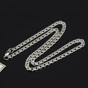 Серебряная цепь Бисмарк 45 см (ширина 0,45 см) арт.8160