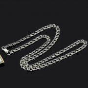 Серебряная цепь Бисмарк 45 см (ширина 0,45 см)