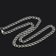 Серебряная цепь Бисмарк 45 см (ширина 0,5 см) арт.8163