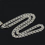 Серебряная цепь Бисмарк 45 см (ширина 0,6 см) арт.8165