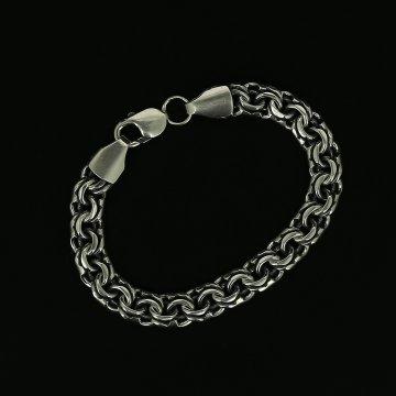 Серебряный браслет Бисмарк 20 см (ширина 0.9 см)