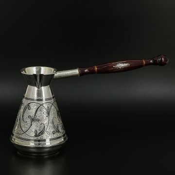 Серебряная турка для кофе
