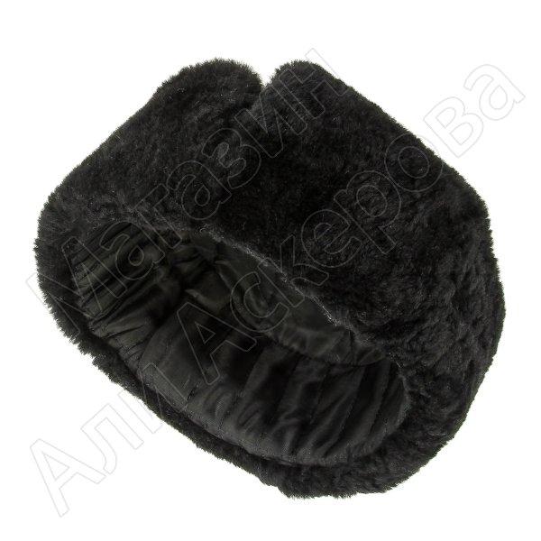 Мужская шапка-ушанка из овчины ручной работы арт.7004