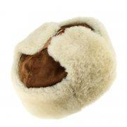 Мужская шапка-ушанка из овчины ручной работы арт.7005