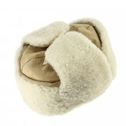 Мужская шапка-ушанка из овчины ручной работы арт.7007