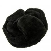 Мужская шапка-ушанка из искусственной овчины ручной работы арт.7018