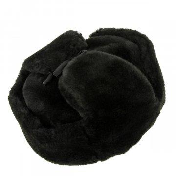 Мужская шапка-ушанка из искусственной овчины ручной работы