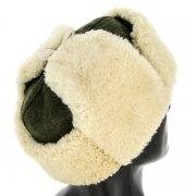 Мужская шапка-ушанка из овчины ручной работы арт.8568