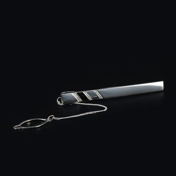 Серебряный зажим для галстука Кубачи ручной работы