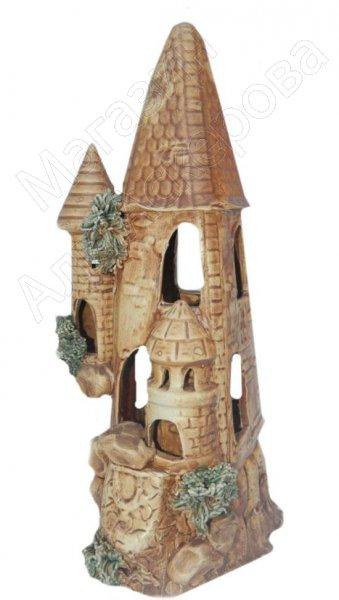 """Подарочная статуэтка ручной работы """"Средневековый замок"""" обожженная глина"""