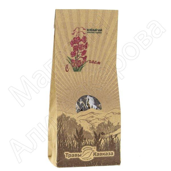 Натуральный чай зеленый байховый крупнолистовой с добавлением травы иван-чая